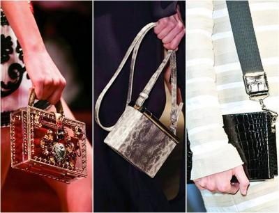 Геометрические сумки-коробки удивят вас своим разнообразием