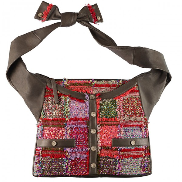 A90688-Y10828-C7983-Multicoloured-tweed-and-khaki-leather-Girl-bag-Large-size