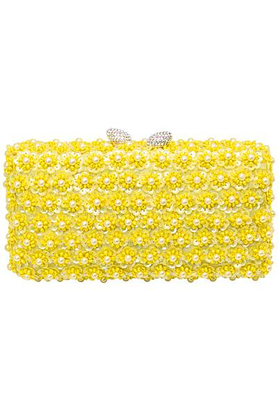 Модный желтый клатч