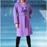 Как подобрать пальто и сумку к пальто лилового цвета