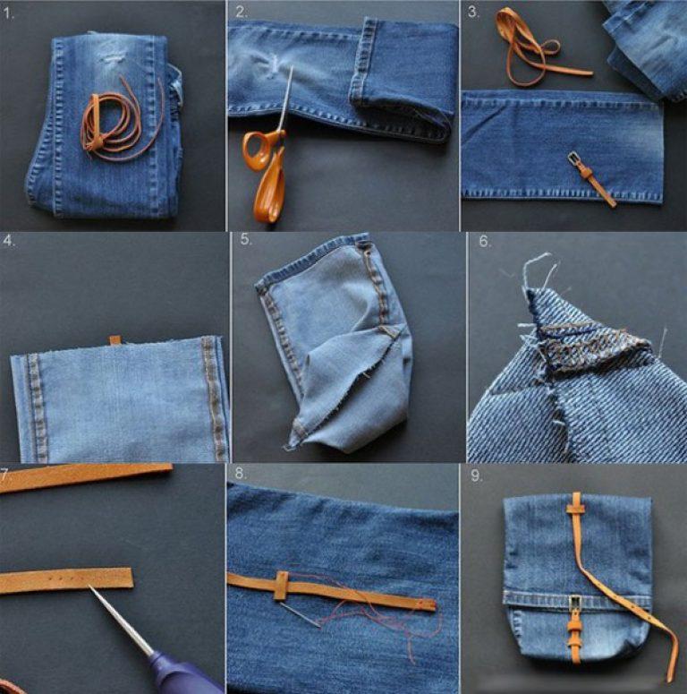 Как делать сумку из джинсов своими руками 79