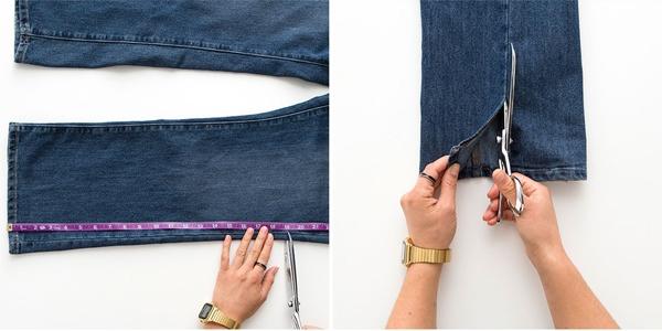 подготовка джинс к раскройке